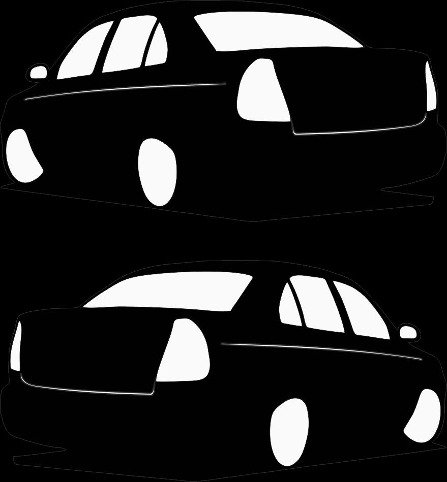 2008 Hyundai Accent Yan Basık Araç Beyaz Sticker