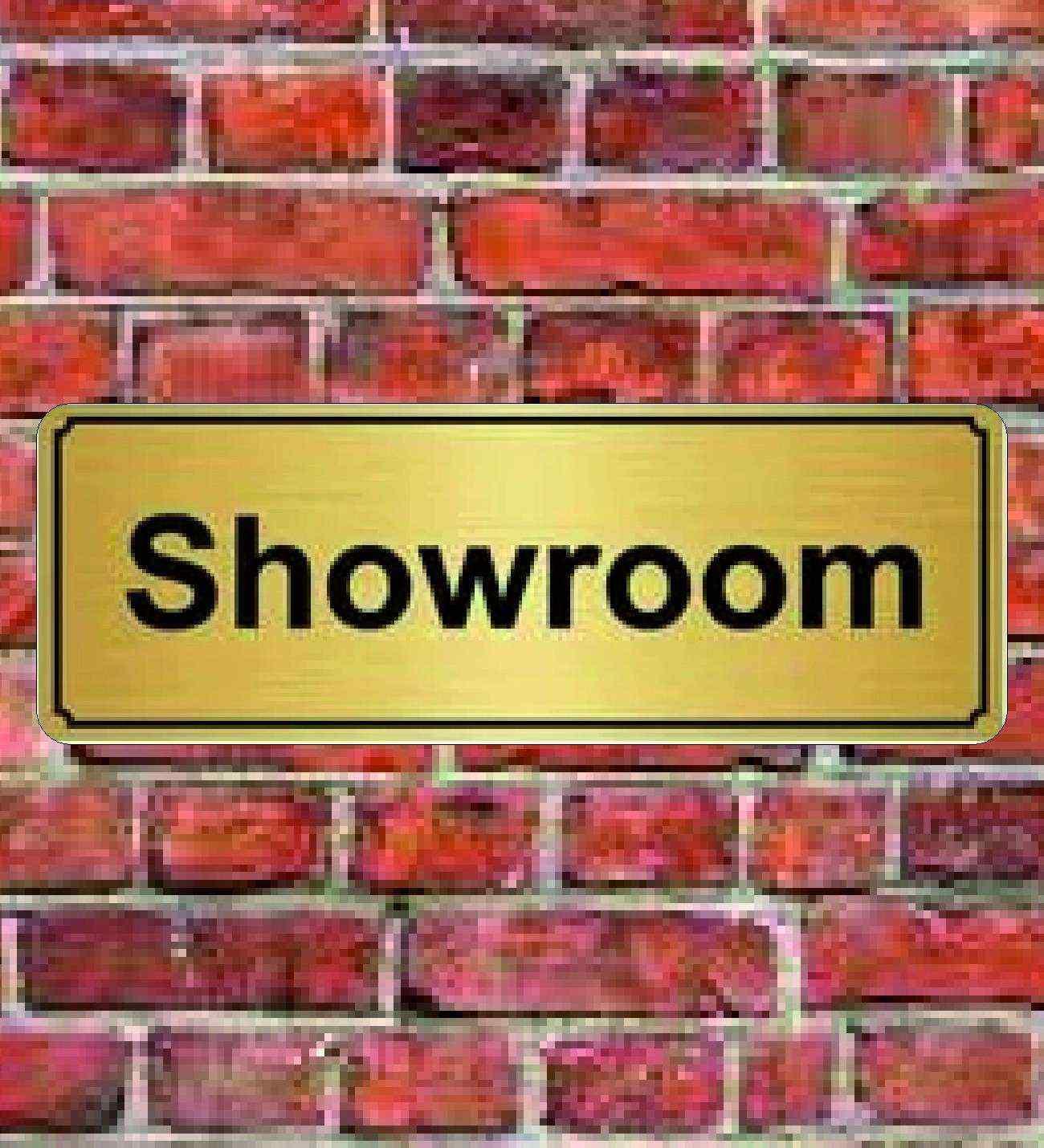 10x20 cm Showroom Yazılı Metal Yönlendirme Levhası