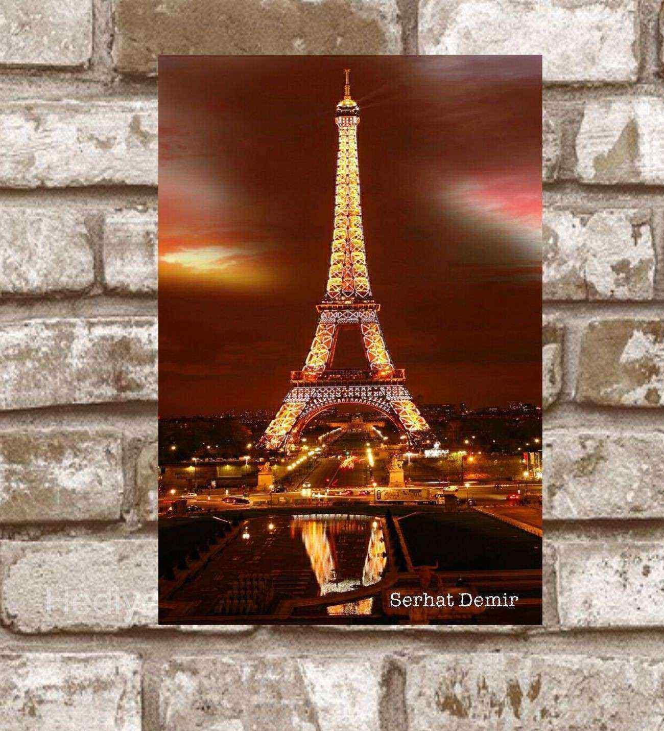Kişiye Özel Metal Paris 2 Retro Poster (29x19)