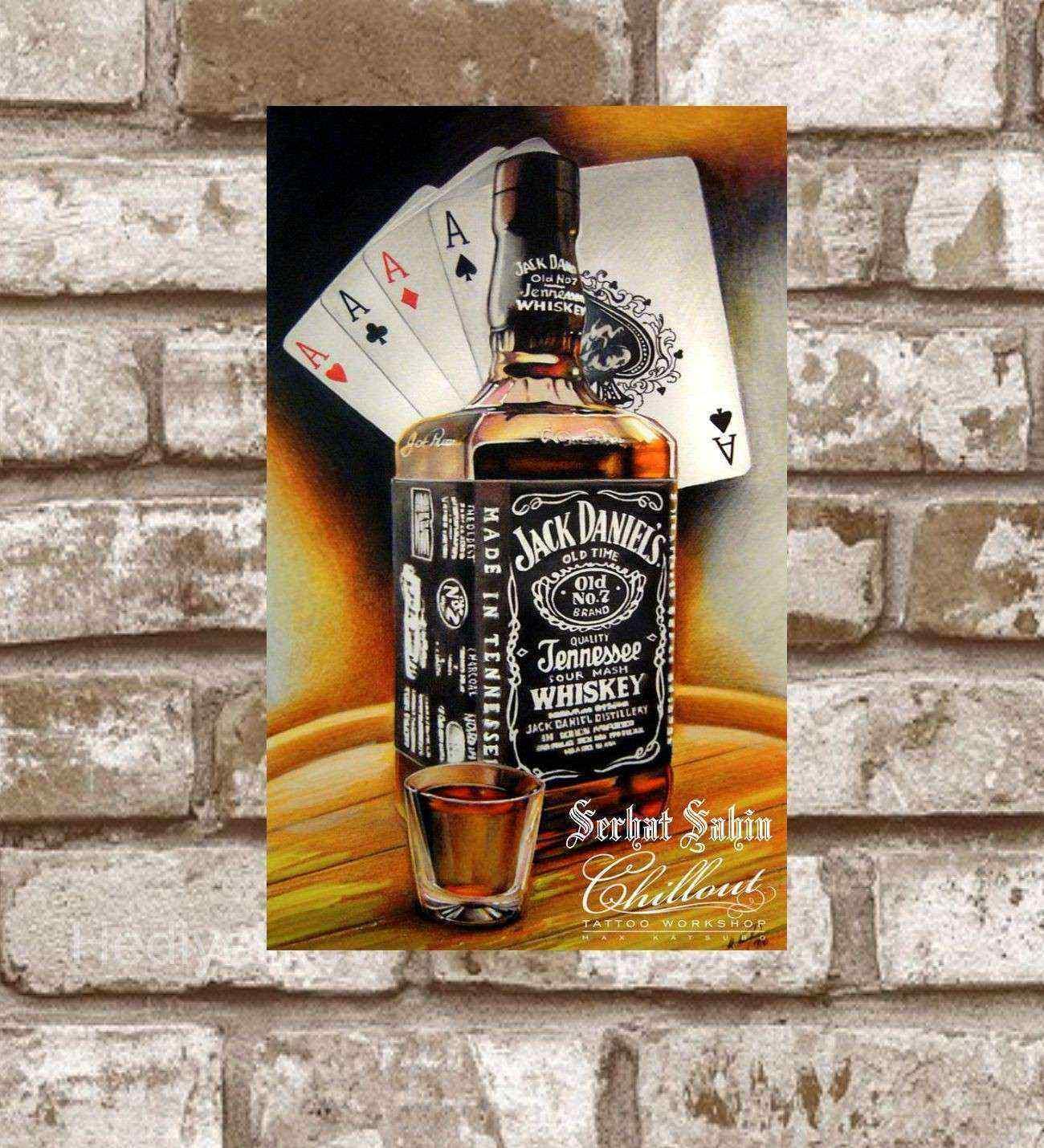 Kişiye Özel Metal Üç As Retro Poster (29x19)