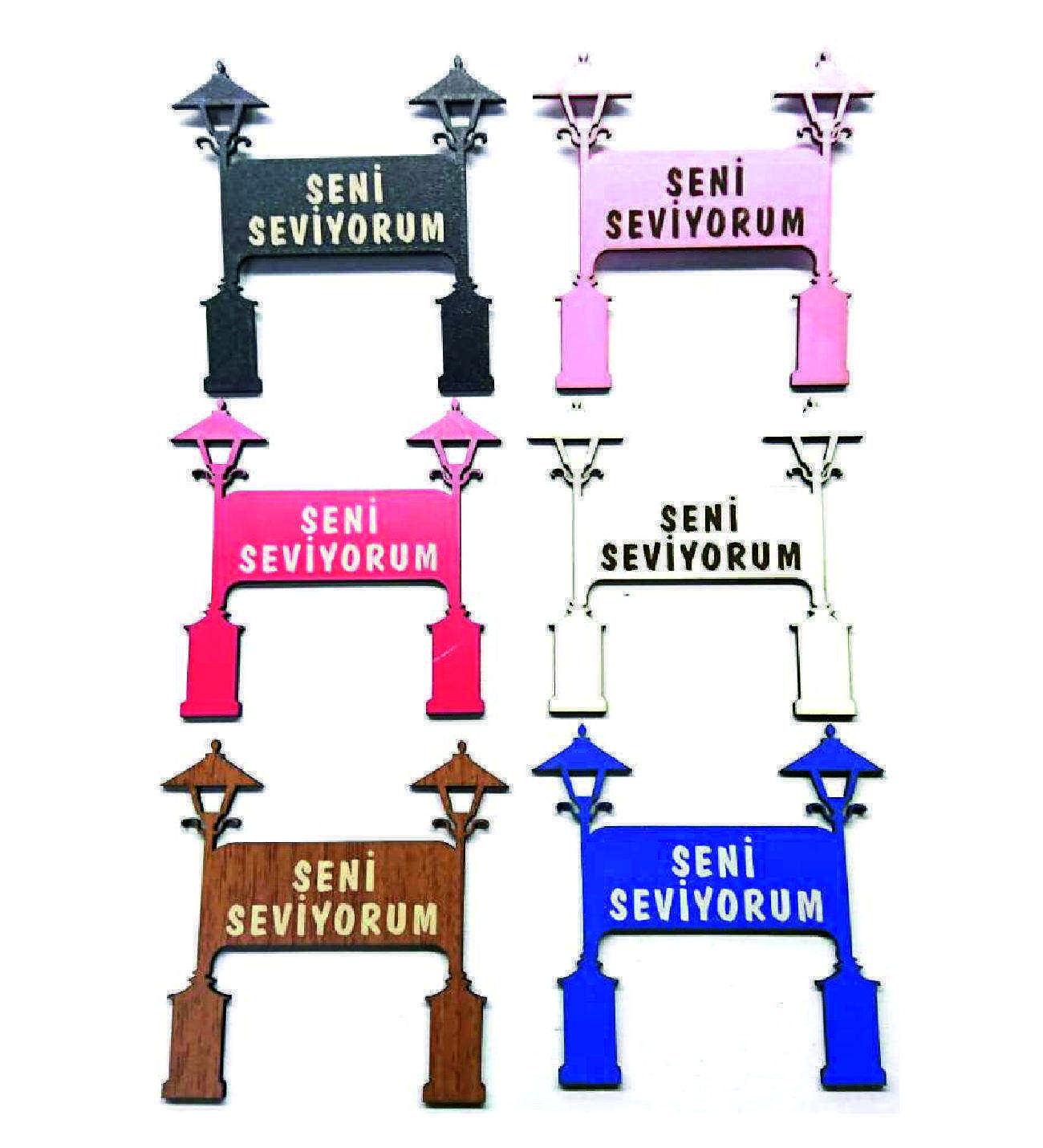 Teraryum İkili Sokak Lambası Tabela Temalı Obje 50 ADET Toptan