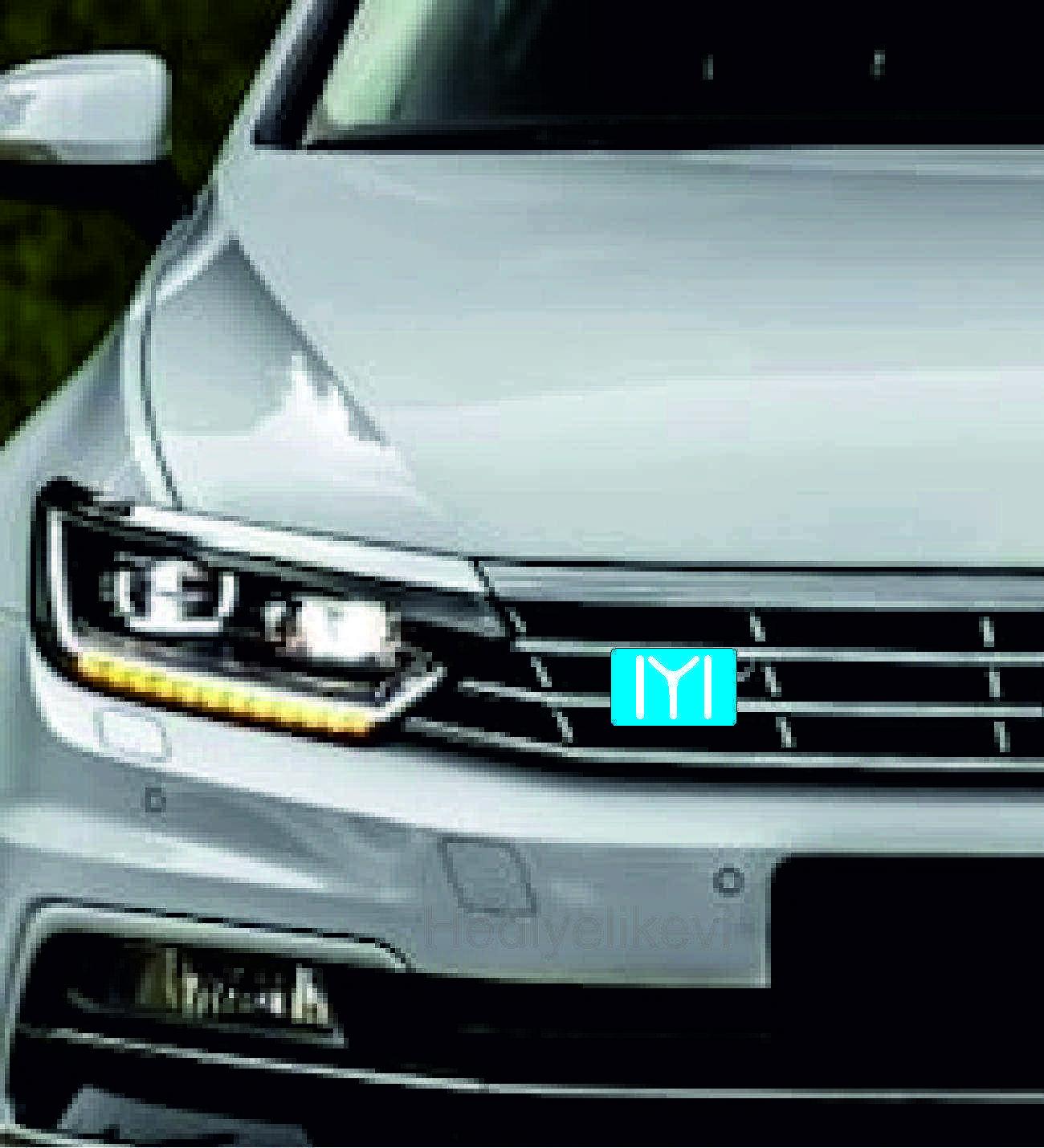 Araç Ön Panjur Logosu Panjur Arma Kayı Boyu logolu