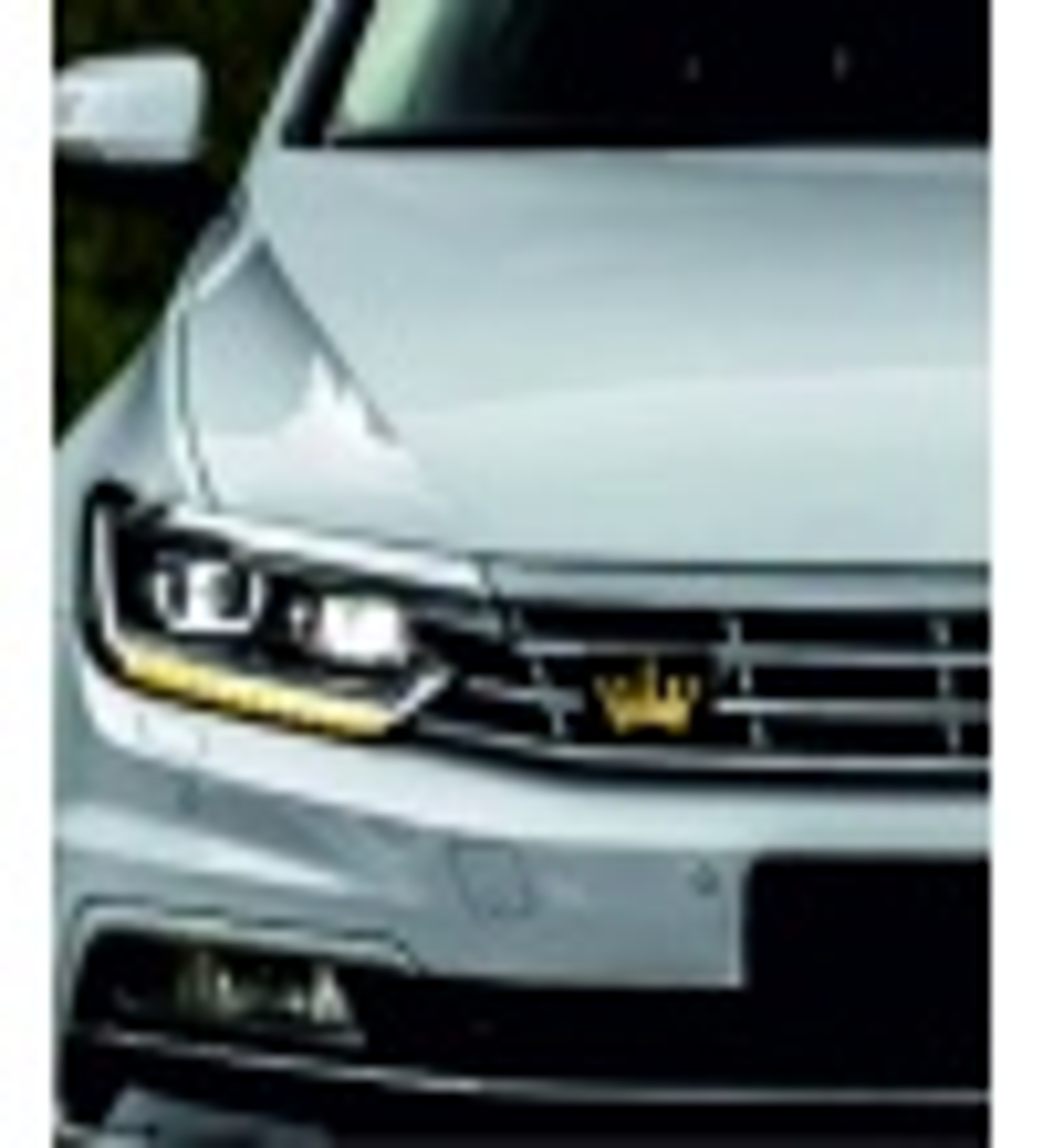 Araç Ön Panjur Logosu Panjur Arma Kral Tacı Altın logolu