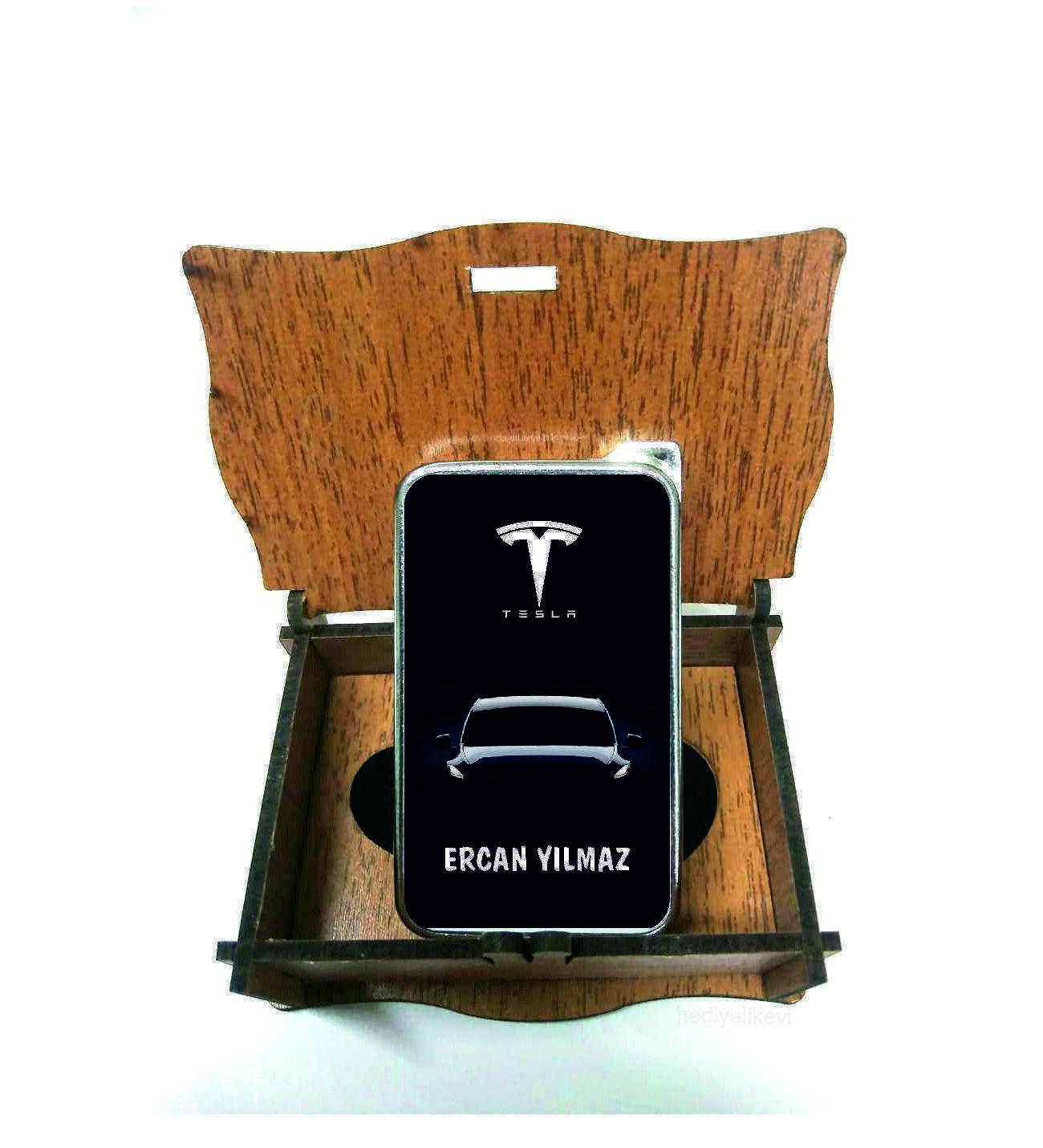 Xl Kişiye Özel Tesla Logolu Çakmak
