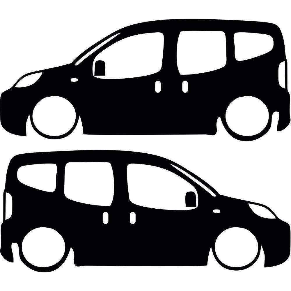 Peugeot Bipper Basık Araç Sticker BEYAZ RENK