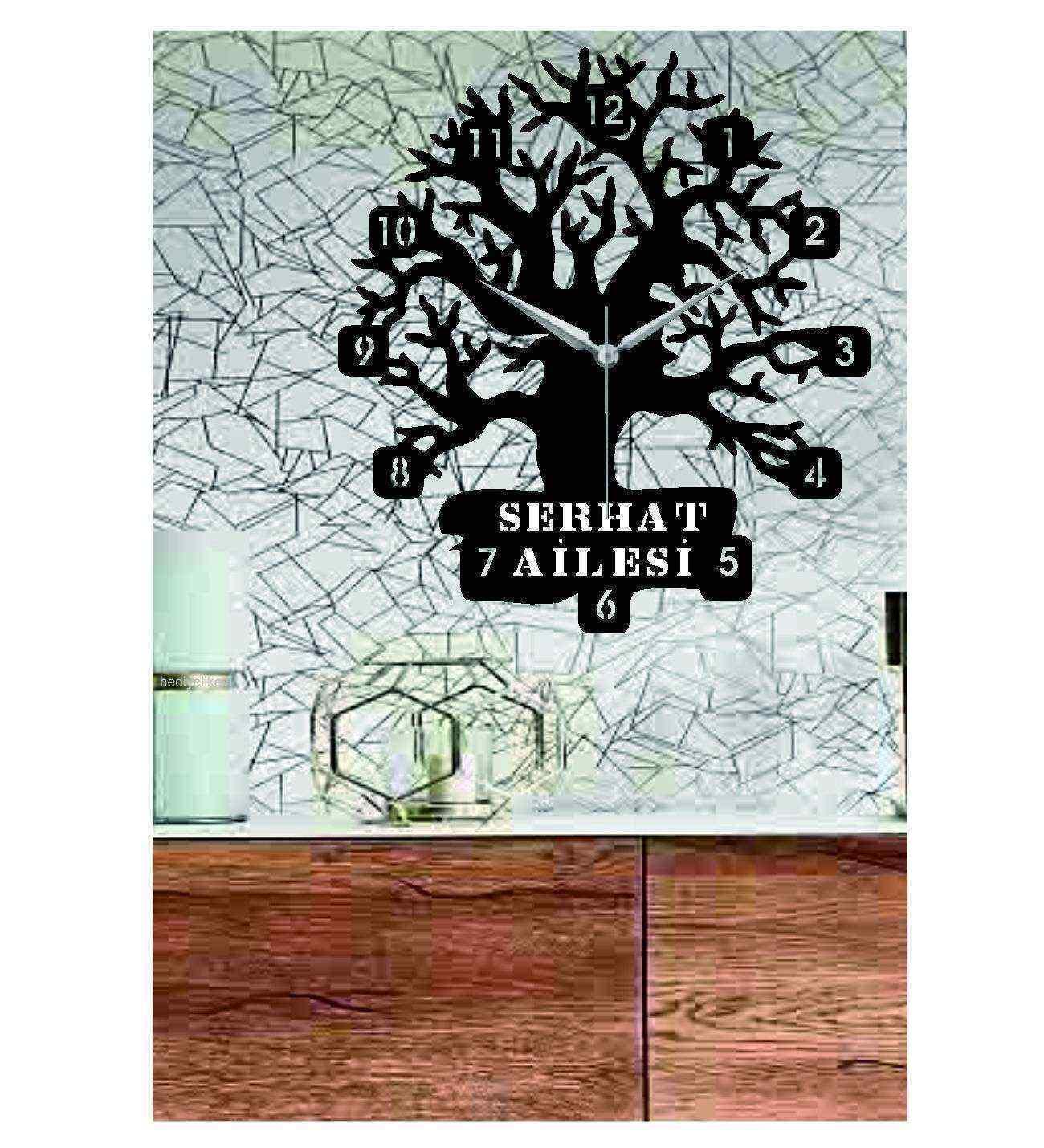 Kişiye Özel İsimli Ağaç Duvar Saati