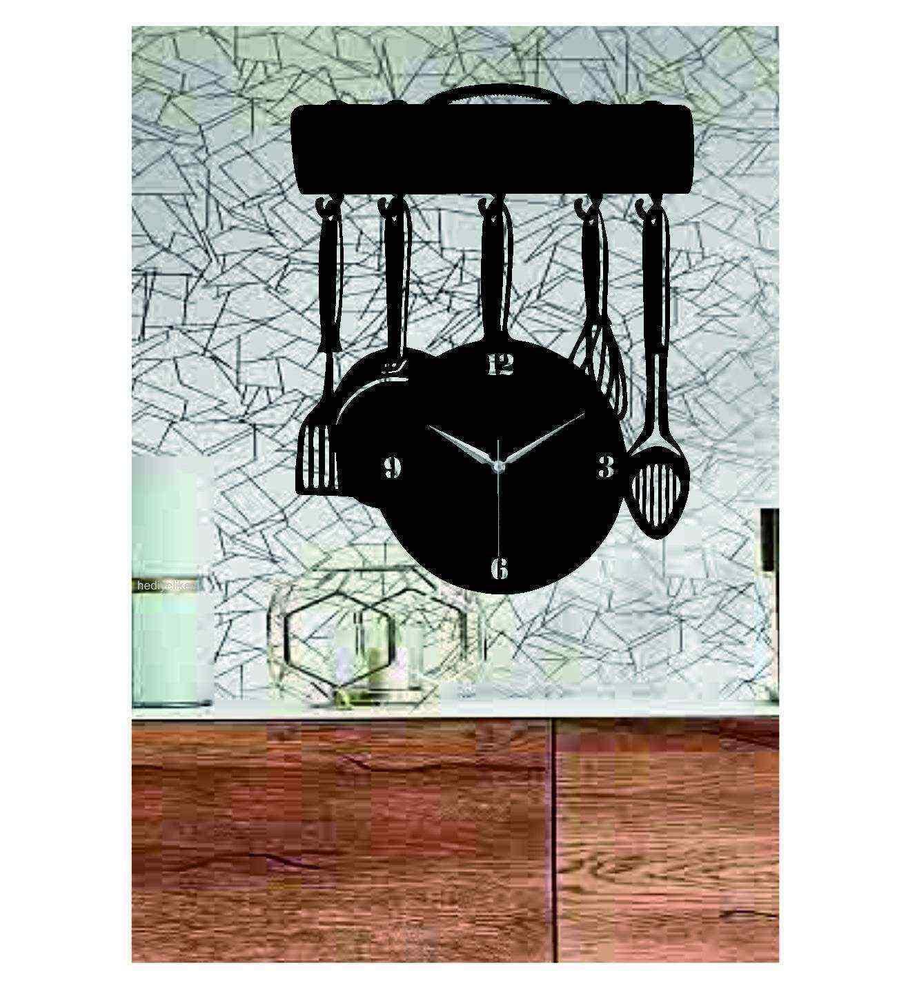 Mutfak 2 Temalı Ahşap Duvar Saati