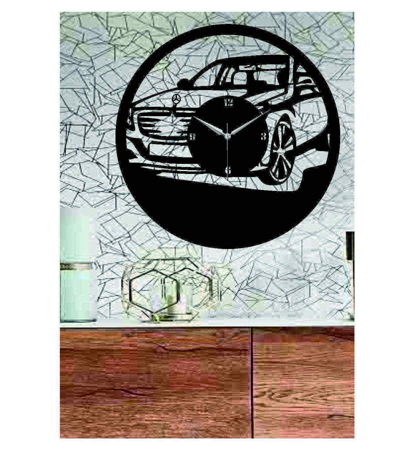 Mercedes-Benz Temalı Ahşap Duvar Saati