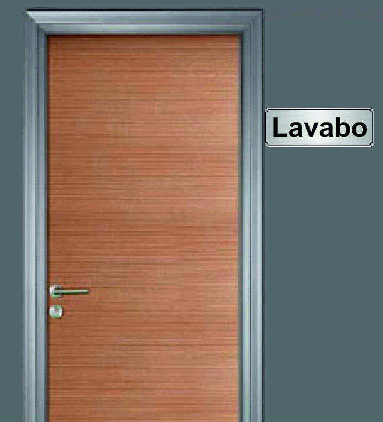 10x20 cm Lavabo Yazılı Metal Yönlendirme Levhası
