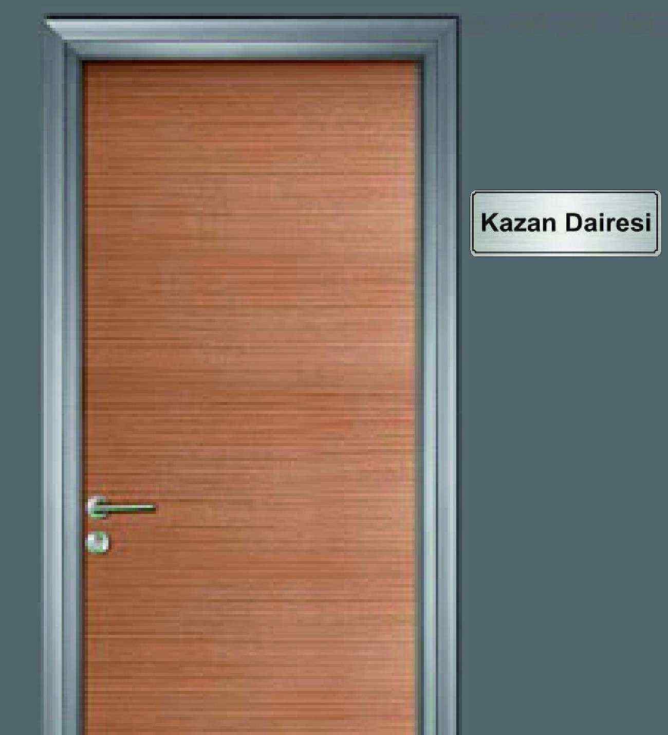 10x20 cm Kazan Dairesi Yazılı Metal Yönlendirme Levhası