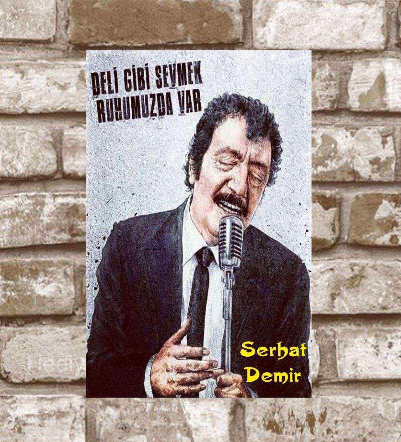 Kişiye Özel Metal Yeşilçam Müslüm Baba Retro Poster (29x19)