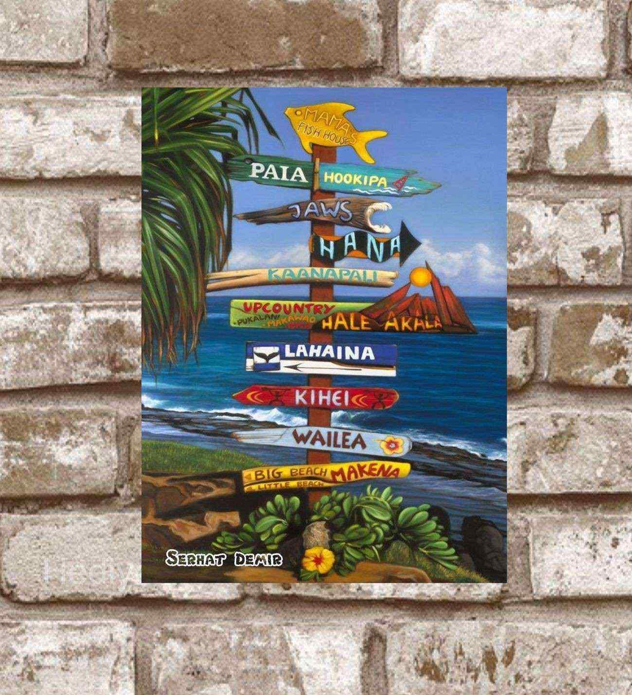 Kişiye Özel Metal Mamas Fish House Retro Poster (29x19)