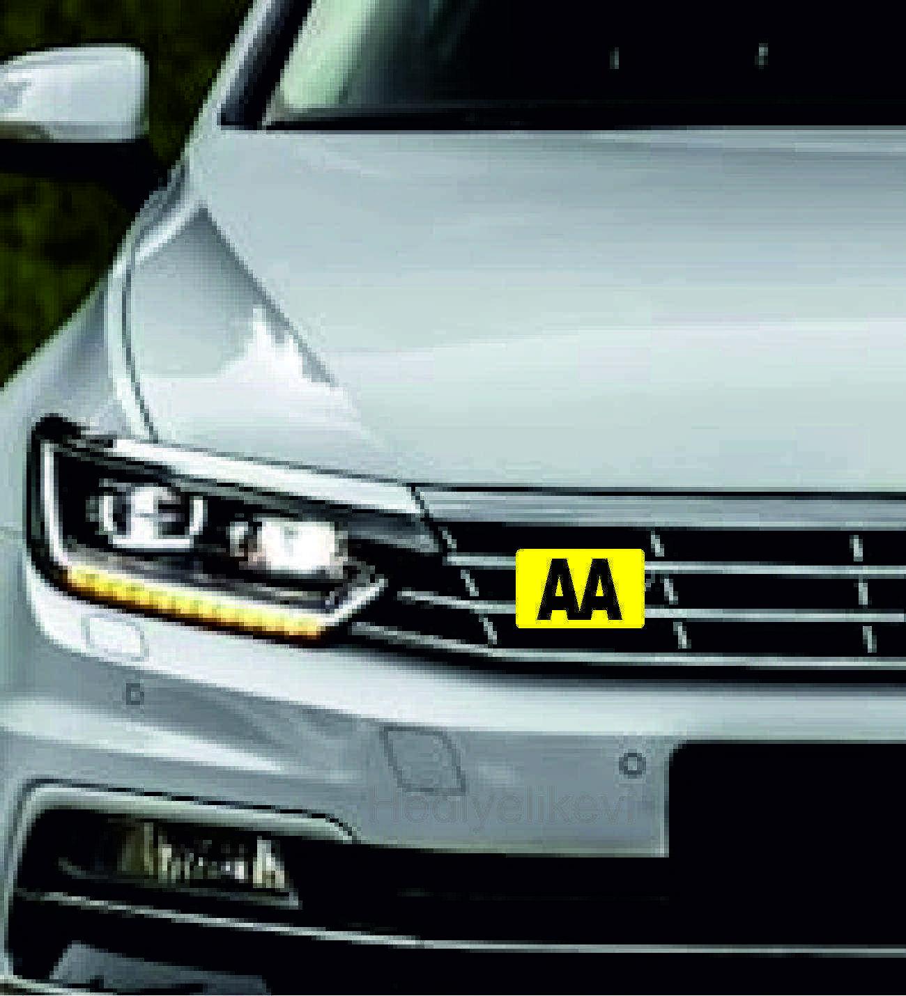 Araç Ön Panjur Logosu Panjur Arma AA logolu