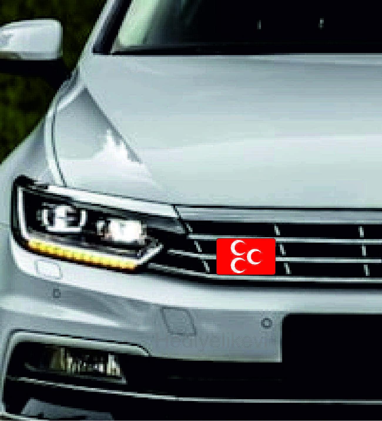 Araç Ön Panjur Logosu Panjur Arma Üç Hilal logolu