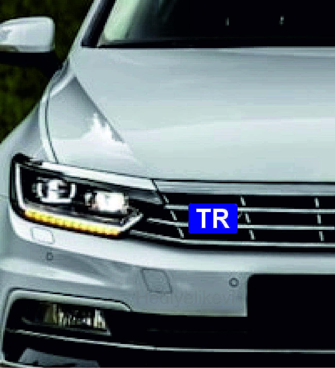 Araç Ön Panjur Logosu Panjur Arma TR  logolu